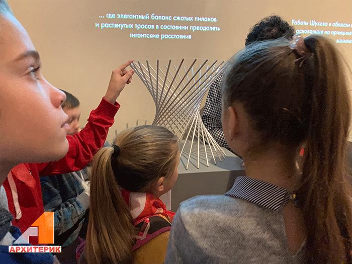 Детская экскурсия на выставку в Музей архитектуры им. Щусева