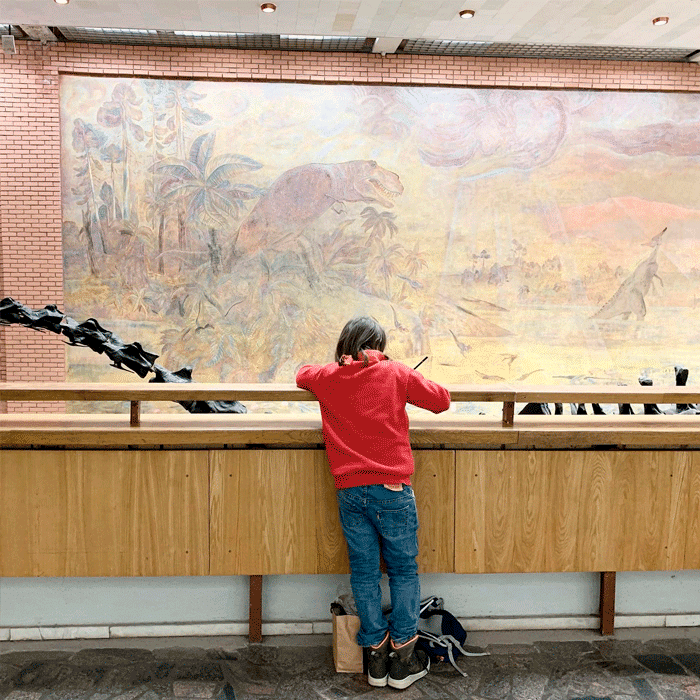 Детская экскурсия в Палеонтологический музей